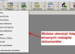 Wystawianie faktury - wybór typu dokumentu